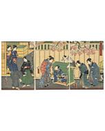 toyokuni III utagawa, tale of genji, lady rokujo, tattoo design