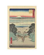 japanese woodblock print, japanese antique, ukiyo-e, mount fuji, landscape, hiroshige