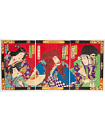 Kunichika Toyohara, Kabuki Play, Mochiduki, Meiji Era