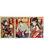 chikanobu yoshu, kabuki play