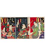 chikanobu yoshu, kabuki theatre