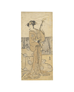 katsukawa shunko I, Segawa Kikunoe in a Geisha Role, kabuki theatre