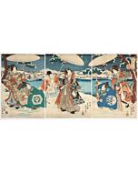 Kunisada II Utagawa, Prince Genji, Snow Scene
