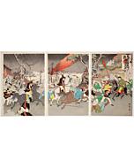 kokunimasa utagawa, The Great Victory of the Imperial Japan at Pyongyang(平壌激戦帝国勝利), sino-japanese war
