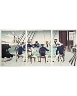 toshikata mizuno, Japanese Naval Officers Discussing Tactics(海軍将校等征清の戦略討論する図), sino-japanese war