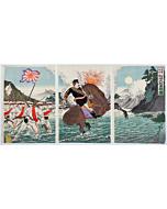 nobukazu yosai, Captain Matsuzaki's Brave Fight at the Attack on Seonghwan(成歓之駅に於いて松崎大尉勇戦の図)