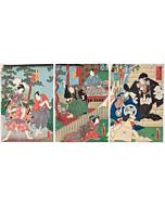 Toyokuni III Utagawa, Kanadehon Chushingura Act.12, Kabuki Theatre