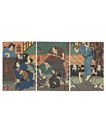 toyokuni III utagawa, theatre, kabuki play, edo period, japanese actors