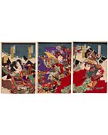 Chikanobu Yoshu, Uesugi and Takeda, Battle, Warrior