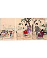 Chikanobu Yoshu, Festival of the Buddha, The Inner Palace of Chiyoda