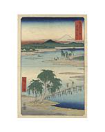 hiroshige I utagawa, hiroshige ando, mount fuji, landscape, views of mount fuji, japan travel, edo period