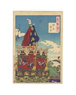 yoshitoshi tsukioka, shinto festival, parade, one hundred aspects of the moon