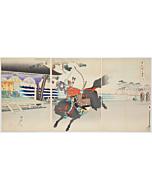 Chikanobu Yoshu, Yabusame, Mounted Archery, The Outer Palace of Chiyoda