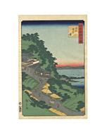 hiroshige II, landscape, japanese woodblock print, japanese antique