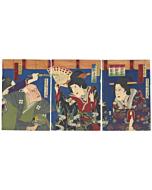 Kunichika Toyohara, Kabuki Play, Inner Palace
