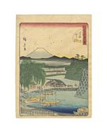 hiroshige II, mount fuji, japanese woodblock print, ukiyo-e