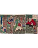 Yoshitoshi Tsukioka, Meiji, Demons, Japanese woodblock print, Antique