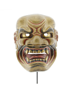 Kijin'kei, Mask of a Fierce God, Noh Theatre, Original Japanese antique