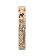 Toyokuni II Utagawa, Hashira-e, Beauty, japanese woodblock print, japanese antique, kimono