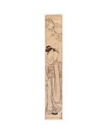Kiyonaga Torii, Hashira-e, Beauty by the River, kimono, japanese woodblock print, antique