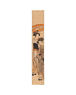 hashira-e, courtesan, kimono obi, japanese woodblock print, japanese antique