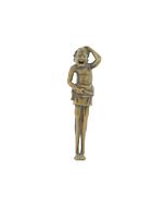 Wooden Netsuke, Laughing Ashinaga, Yokai, Legend, Carving, Figurine, Original Japanese antique