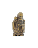 Wooden Netsuke, Shouxing, God of Longevity, Japanese antique, japanese folklore