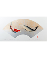 Kunio Kaneko, Contemporary Art, Japanese art, Koi Fish, Golden leaves