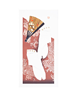 Kunio Kaneko, Tabi Socks, Red, Japanese woodblock print, Contemporary art