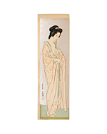 Goyo Hashiguchi, long undergarment, shin hanga, japanese beauty, japanese woodblock print, antique