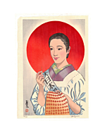 japanese woodblock print, contemporary art, portrait, paul binnie