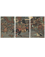 japanese woodblock print, japanese antique, warrior, samurai, kuniyoshi utagawa