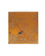 Maki-e, Suzuribako, Calligraphy Box, Landscape, Mountains, Japanese Antique