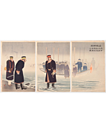 kiyochika kobayashi, war print, battle, japanese imperial army, meiji period