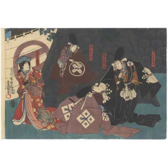 toyokuni III utagawa, kabuki play, kanadehon chushingura