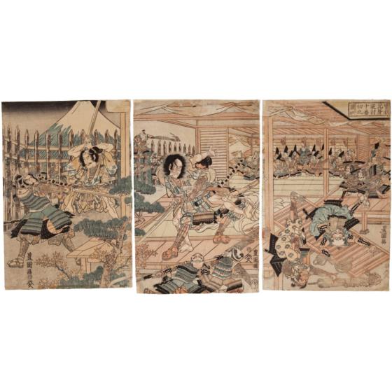toyokuni I utagawa, soga brothers, kabuki play
