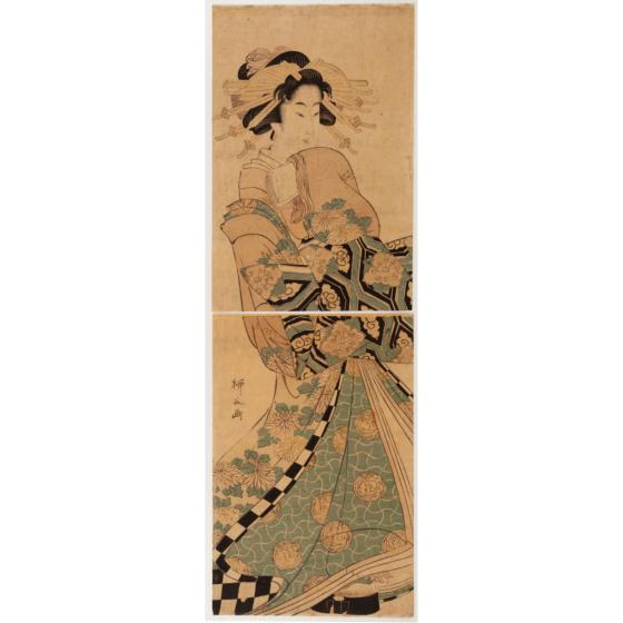 Ryukoku Hishikawa, courtesan, kimono design