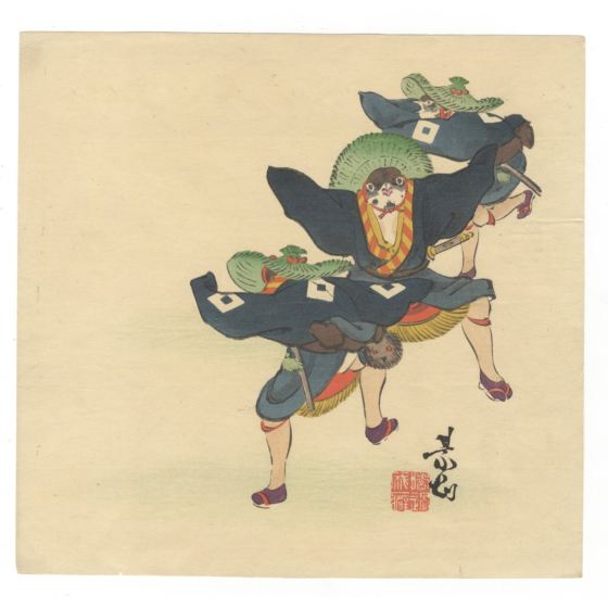 zeshin shibata, sparrows dancing