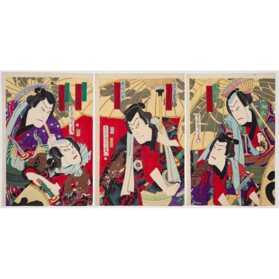 kunichika toyohara, Shiranami Gonin Okoto, kabuki theatre