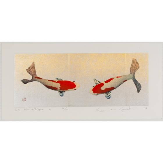 kunio kaneko, fish, gold leaf, let me whisper, contemporary art