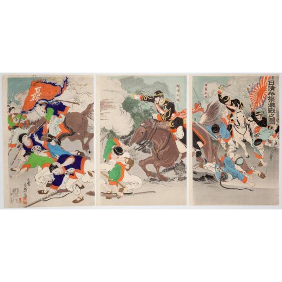 toshihide migita, Fierce Battle at Pyongyang(日清平壌激戦之図), meiji war