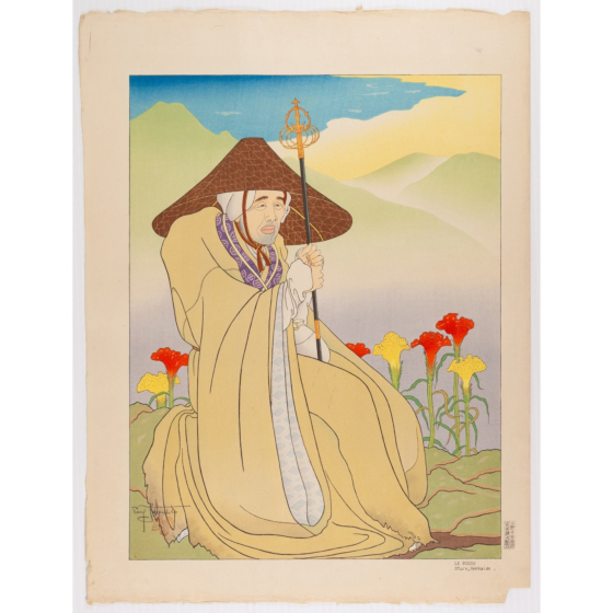 paul jacoulet, Le Bossu. Otaru, Hokkaido, french artist, travelling monk
