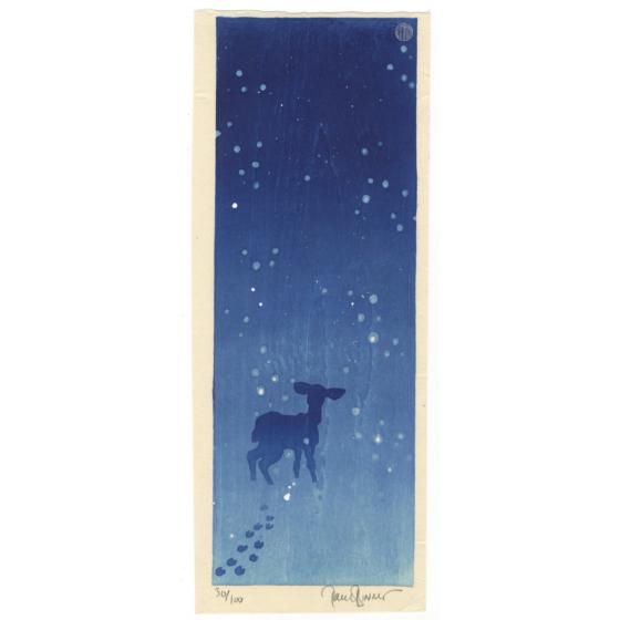 Paul Binnie, Deer in the Snow, Winter, Contemporary