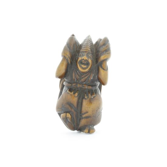 wooden netsuke, performer