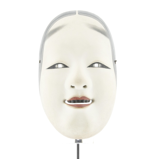 japanese noh mask, noh theatre, performance, young girl, classical theatre, woodwork, hand-carved