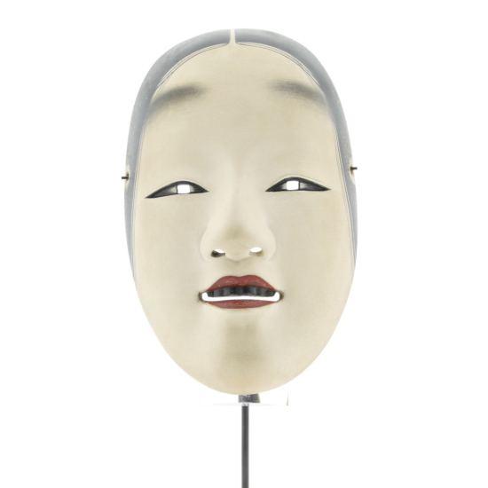 Wakaon'na, Noh Mask of a Woman, Theatre, Traditional, Original Japanese antique