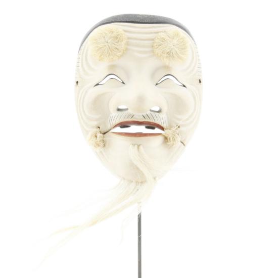 Hakushiji-jo Okina, Noh Theatre Mask, Traditional, Old Man, Mask, Original Japanese antique