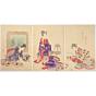 chikanobu yoshu, poem writing, High-ranking Ladies of the Tokugawa Era, kimono fashion