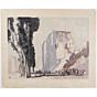 mokuchu urushibara, Messina, Life Amongst the Ruins,Designed and signed by Frank Brangwyn