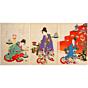 chikanobu yoshu, girl's day, hina matsuri, spring, march, kimono design